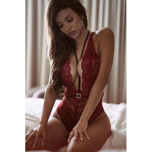 Meira Night  Kırmızı Dantel Body Fantazi İç Giyim