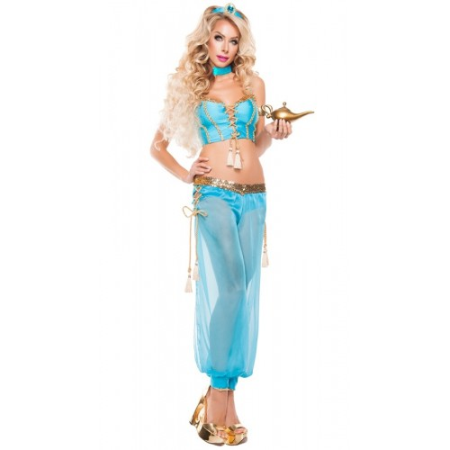 Meira Night Mavi Şık Dansöz Elbisesi Kostümü