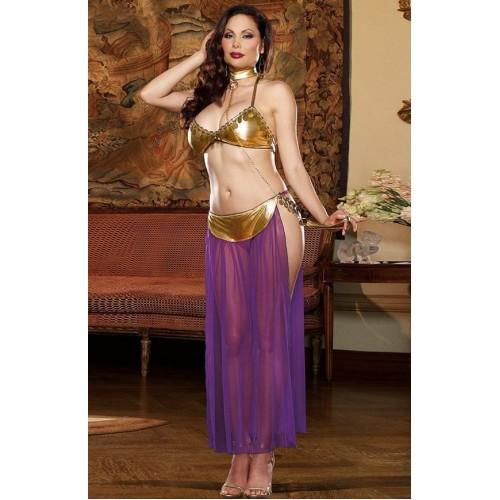 Meira Night Seksi Büyük Beden Dansöz Kostümü Elbisesi