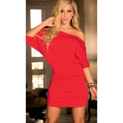 Meira Night Şık Kırmızı Mini Elbise
